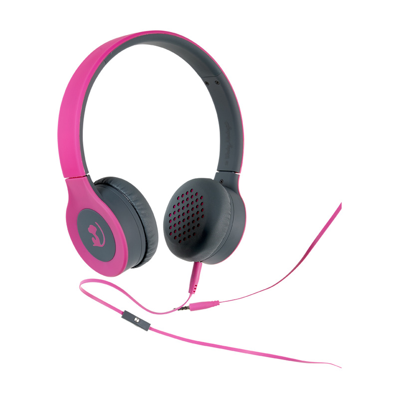 on-ear headset pink